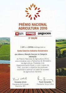 BPI premio nacional agricultura